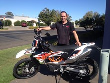 Stacey Rossetto with his KTM690END16
