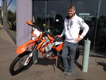 Jackson Treverrow with his new KTM350EXCF16