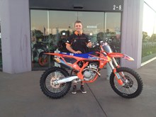 Geoff Chalmers with his Factory Edition KTM250SXF16